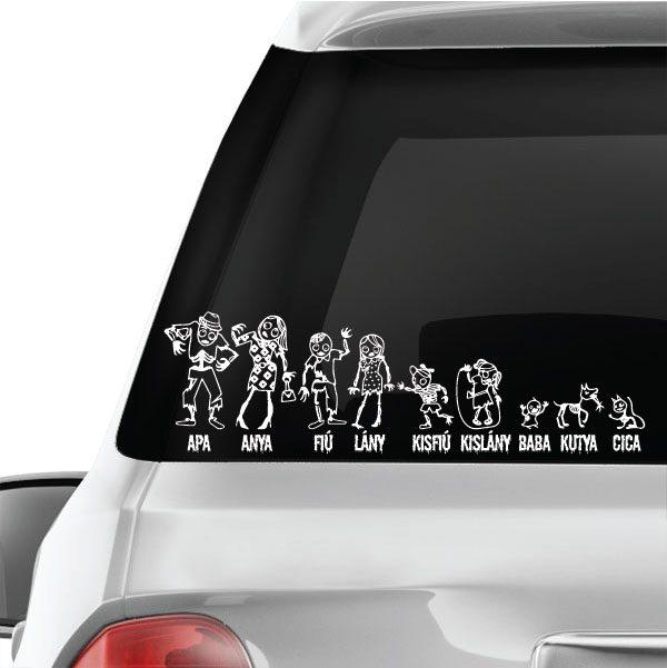 Rémisztő családi autómatrica
